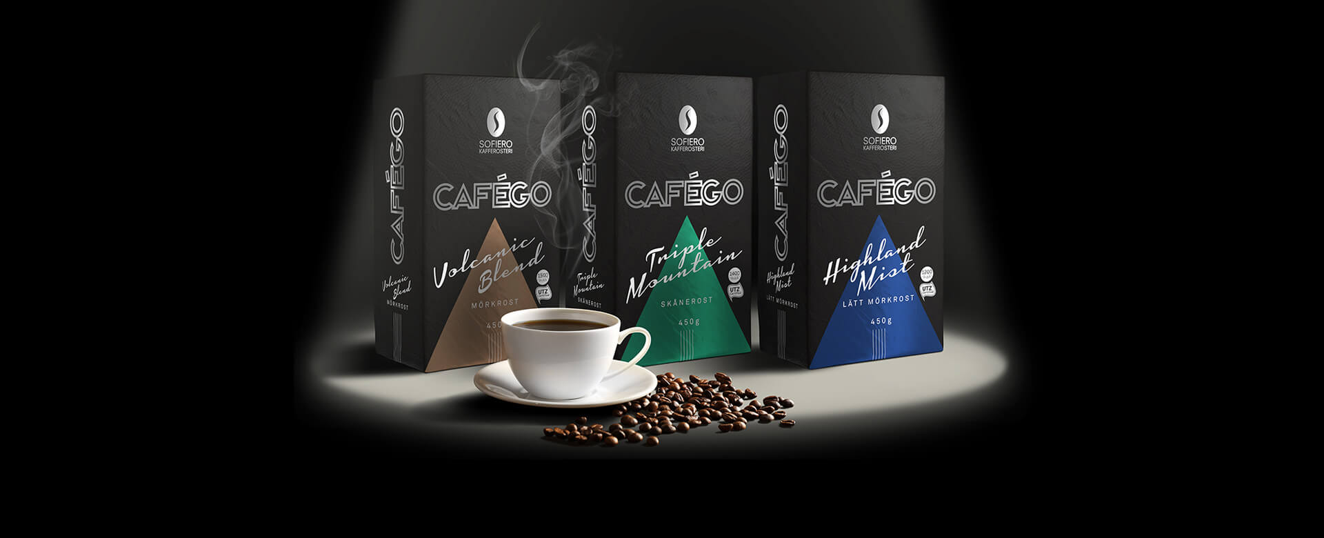 3 cafego products packages